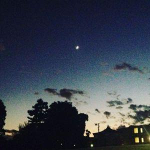 三日月の夜 #moon