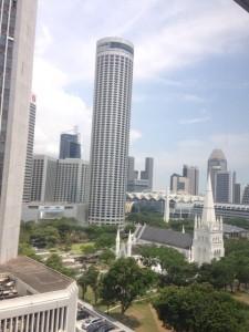 シンガポールの町中の風景